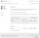 Detalle de aplicación cargada en el Windows Phone Dev Center